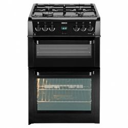 Beko BDVG694KP Black 60cm Gas Cooker with Double Oven