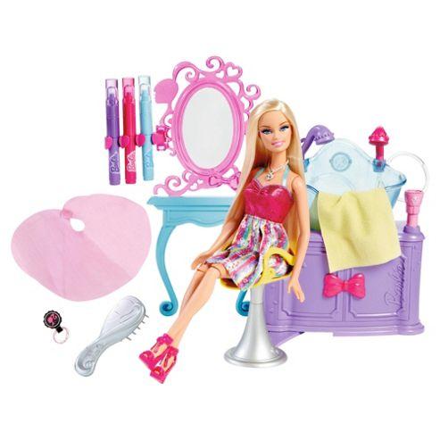 Barbie Hairtastic Colour N Wash Salon