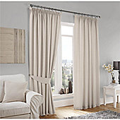 Curtina Lincoln Cream 46x90 inches (116x228cm) 3 Pencil Pleat Curtains