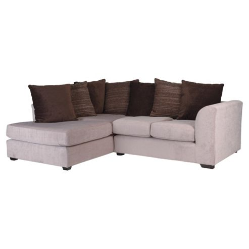 Ontario Fabric Corner Sofa, Mink Left Hand Facing