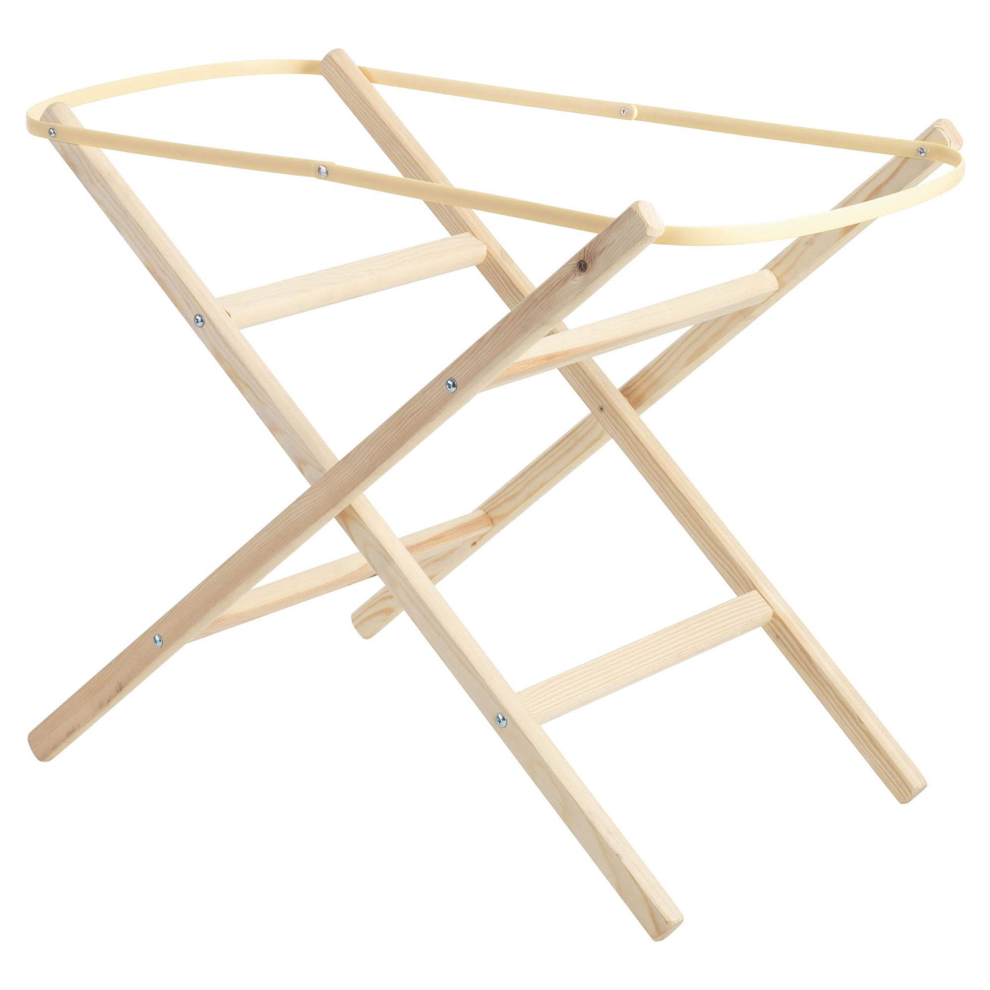 Clair de lune Wooden Folding Moses Basket Stand