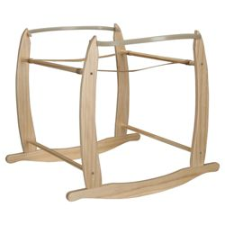 Clair De Lune Wooden Deluxe RocKing Size Moses Basket Stand