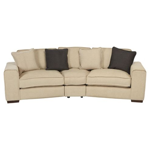 Omega Fabric Curved Sofa, Natural