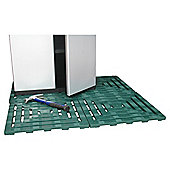 Keter Step-On Plastic Floor Tiles, 4 Pack, Green