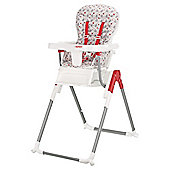 Tiny Tatty Teddy Highchair, Red