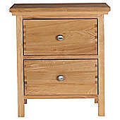 Hampstead Bedside Chest Solid Oak.