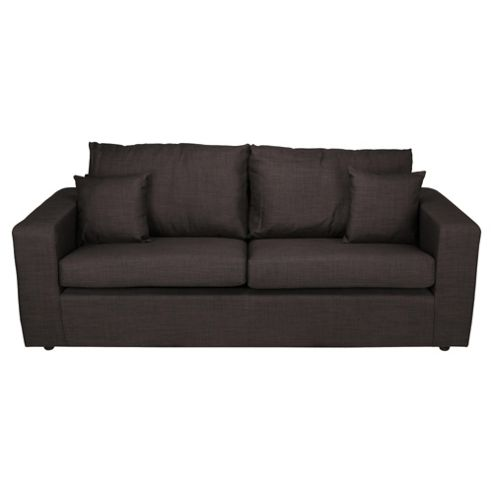 Maison Large Fabric Sofa, Gunmetal