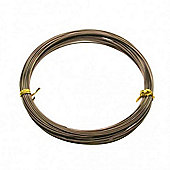 Brown 1mm Aluminium Wire