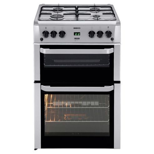 Beko BDVG694SP Silver 60cm Gas Cooker with Double Oven
