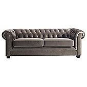 Chesterfield Velvet Medium Sofa, Mink