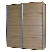 Smith Large Double Sliding Wardrobe, Oak-Effect