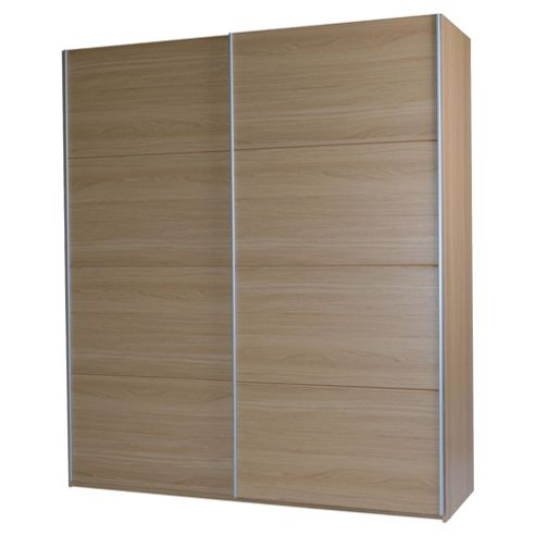 Smith Large Double Sliding Wardrobe, Oak Effect