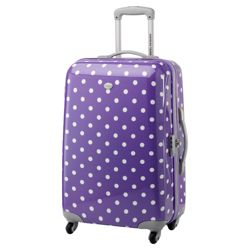 Samsonite American Tourister Lollydots Spinner Suitcase, Purple 67cm