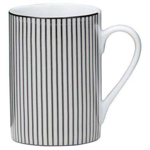 Tesco Pinstripe Set of 4 Mugs