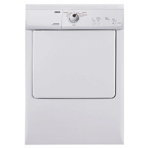 Zanussi ZDE47200W Vented Tumble Dryer, 7kg Load, C Energy Rating. White