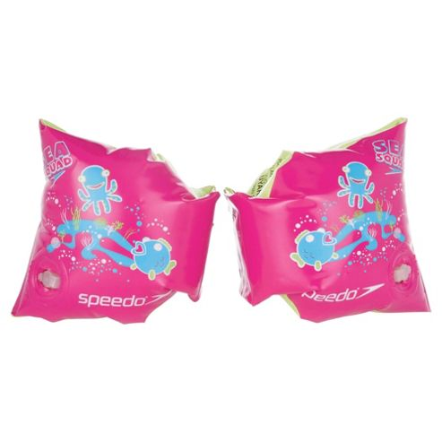 Speedo Sea Squad Armbands, Pink