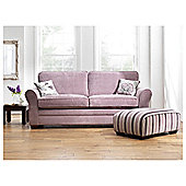 Amelie Large Standard Back Fabric Sofa, Lilac