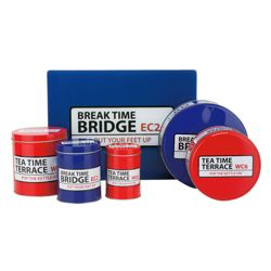 Tesco Street Signs 2 Cake Tins, 3 Storage Canisters and Work Surface Protector Set