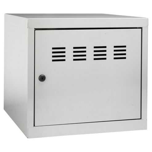 Pierre Henry A4 Small Locker Filing Cabinet, Silver