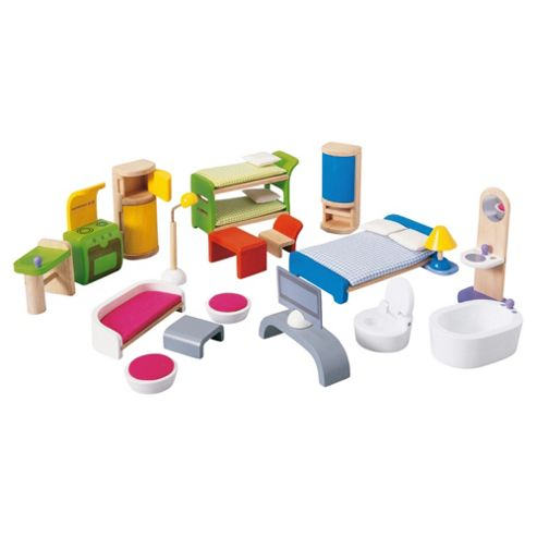 Plan Toys Modern Dolls House Wooden Furniture Set