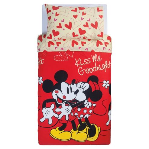 Disney Mickey And Minnie Single Duvet Set