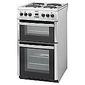 Beko DV555AS 50cm Silver Electric Cooker With Double Oven