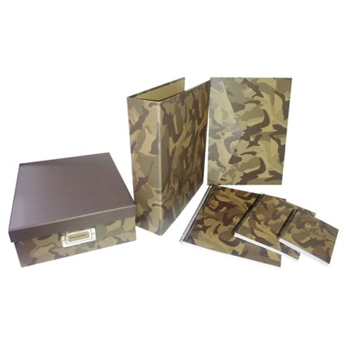 Camouflage stationery collection