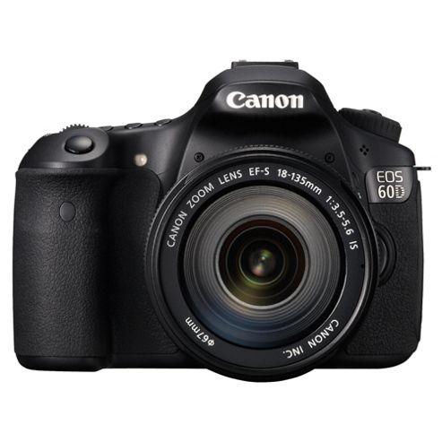 Canon EOS 60D Digital SLR Camera (Inc EF-S 18-135 mm f/3.5-5.6 IS Lens Kit)
