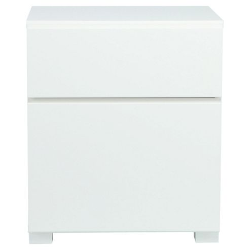 Urban 2 Drawer Filer, White Gloss