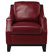 Porto Leather Accent Chair Red