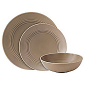 Gordon Ramsay Maze by Royal Doulton 12 Piece, 4 Person Dinner Set - Taupe