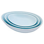 Nigella Lawson Living Kitchen Set of 3 Salad and Vegetable Dishes, Blue