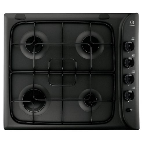 Indesit PIM640AS, Black, Gas Hob, 60cm