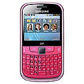 Tesco Mobile Samsung Ch@t 335 Fuchsia Pink