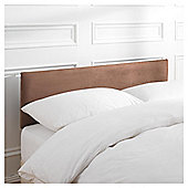 Mittal Single Faux Suede Headboard, Chocolate