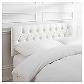 Seetall Preston Headboard White Faux Leather Double