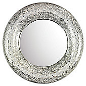 Mosaic Portrait & Landscape Mirror, Silver