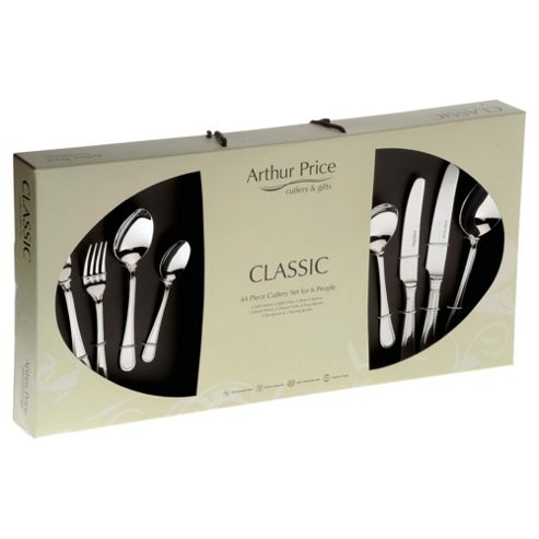 Arthur Price Classic Bead 44 piece, 6 Person Boxed Cutlery Set