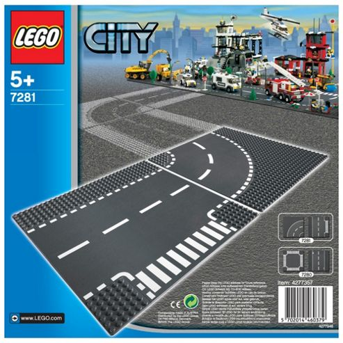 Lego 7281 City Curce  and T-Intersection