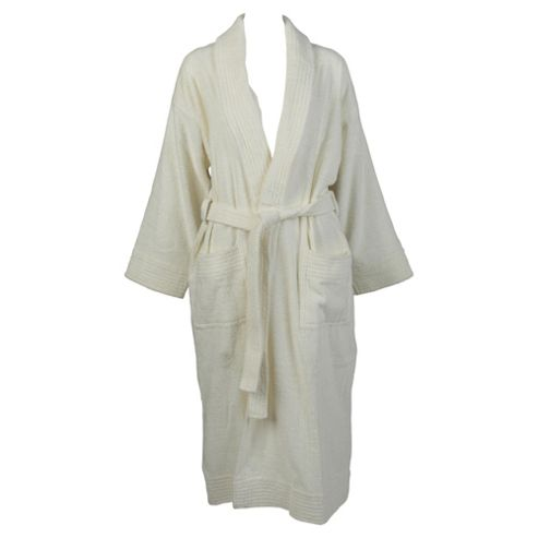 Finest Towelling Robe Ivory S/M