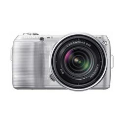 Sony NEX-c3 Silver Compact System Camera with 18-55mm lens Kit
