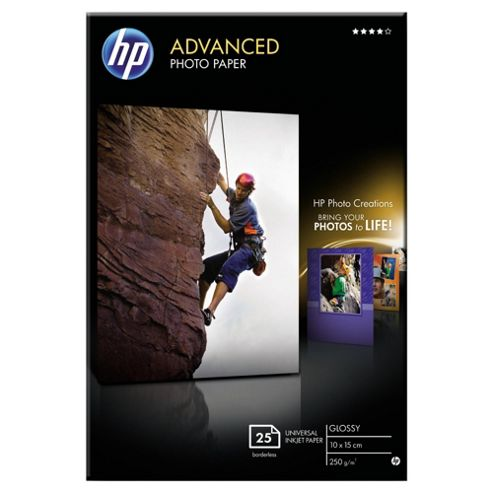 HP Advanced Glossy universal Photo Paper -10 x 15 Sheets