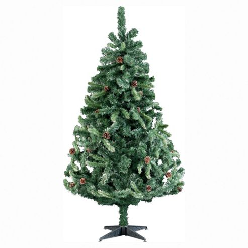 Tesco 6ft Frosted Mountain Cone Christmas Tree