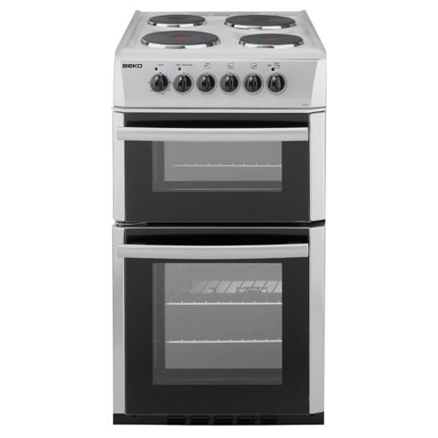 Beko D532AS Silver 50cm Twin Cavity Electric Cooker