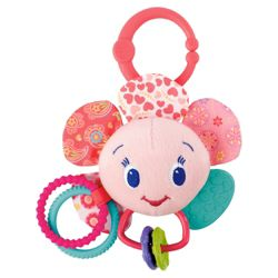 Bright Starts Play-A-Lot Petals Rattle, Pink