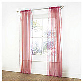 Tesco Pair Voile Channel Top - Red