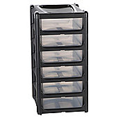 Wham 6 Drawer Tower Unit, Black