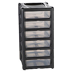 Wham Storage Tower - 6 Drawers - Grey