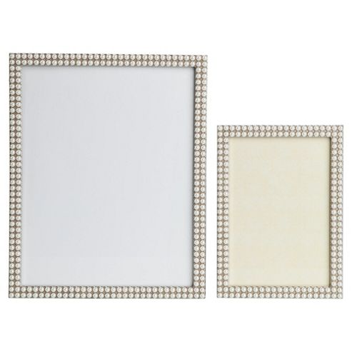 Set of 2 pearl frames 8x10 & 5x7