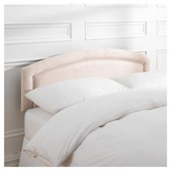 Adel Double Faux Suede Headboard, Cream